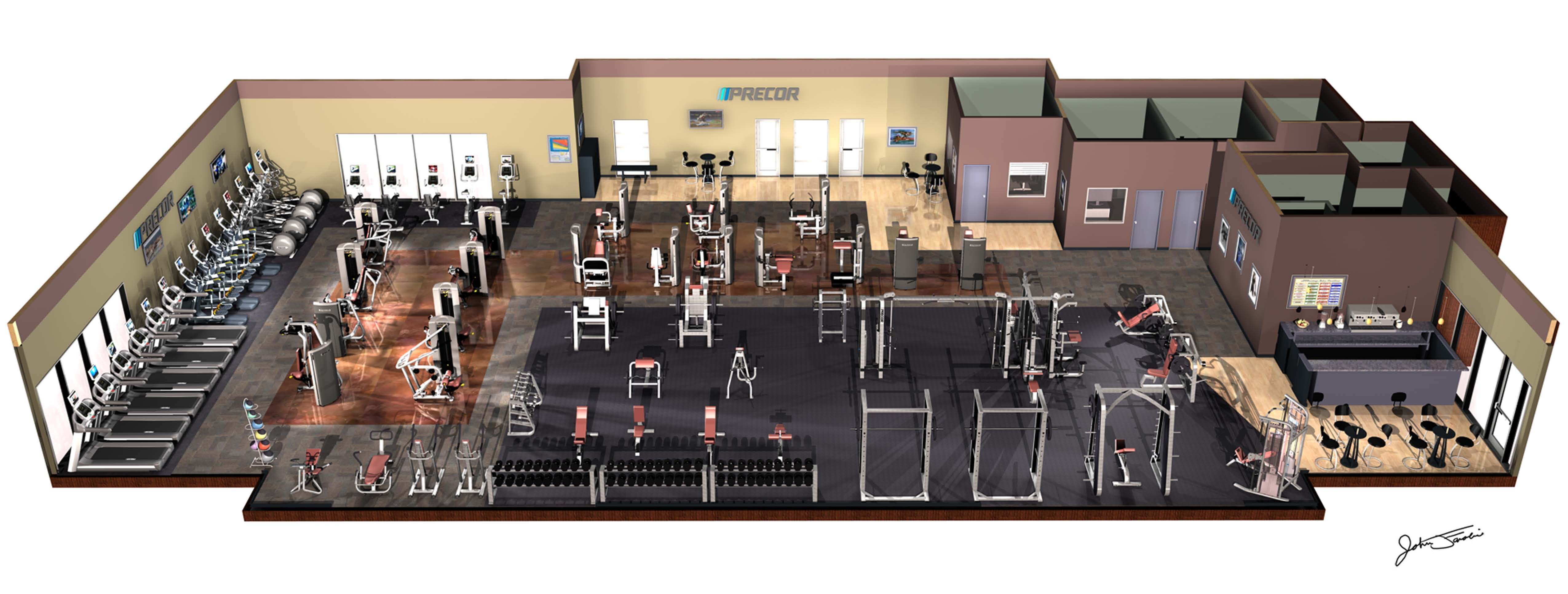 Fitness space planner for Interior decoration equipment
