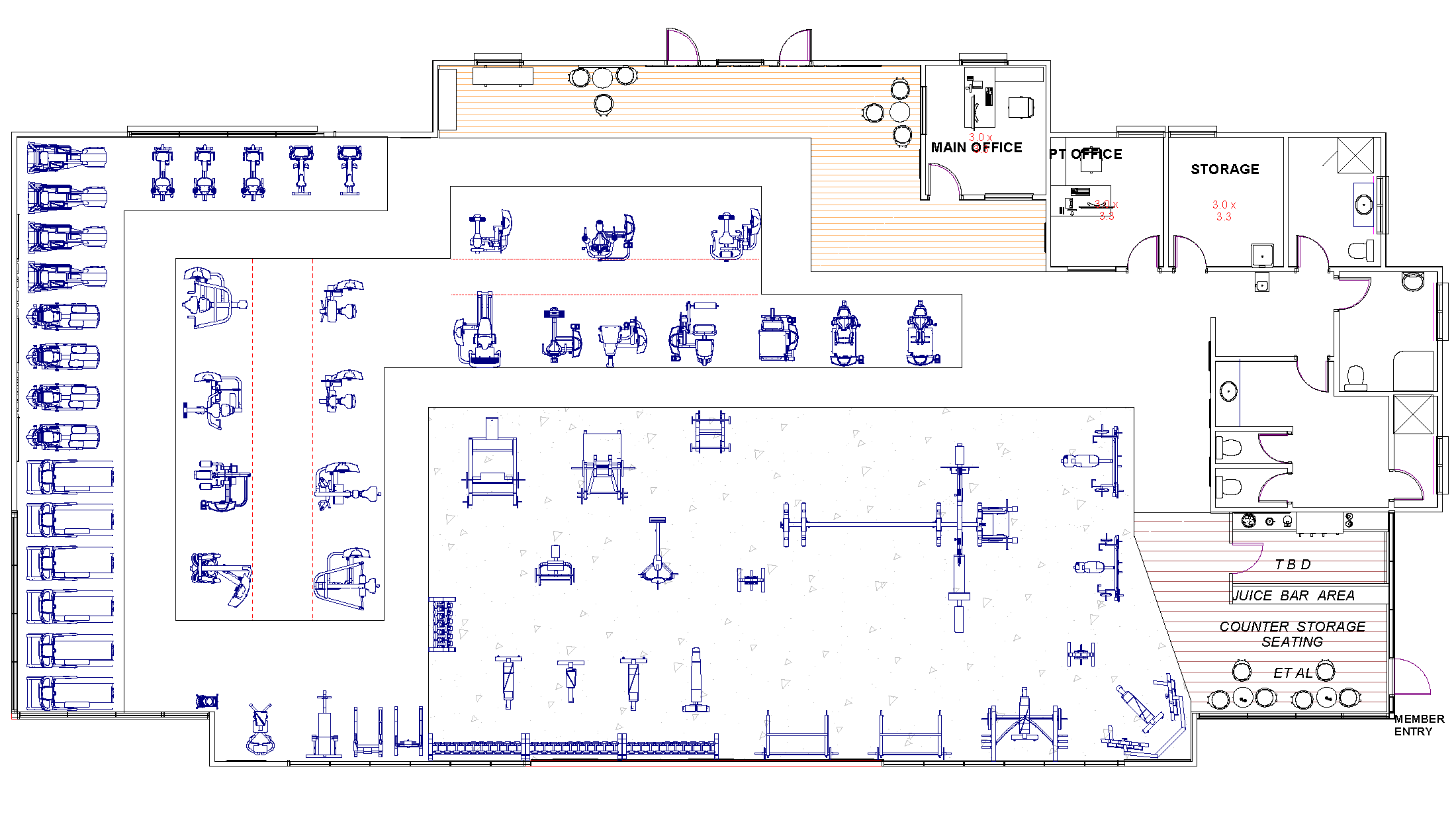 Fitness Space Planner